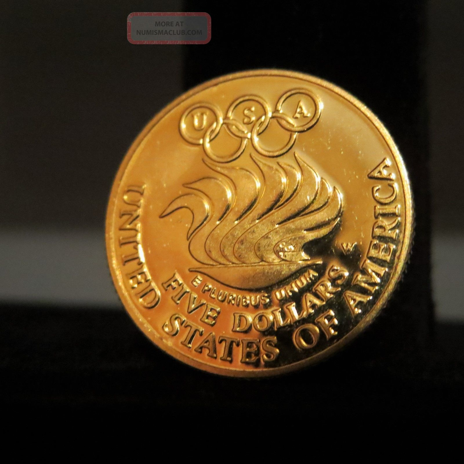 1988 W Olympic Commemorative 5 Dollar Gold Proof Coin