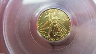 2010 American Gold Eagle $5 Coin Pcgs First Strike Graded Ms70 Perfect photo