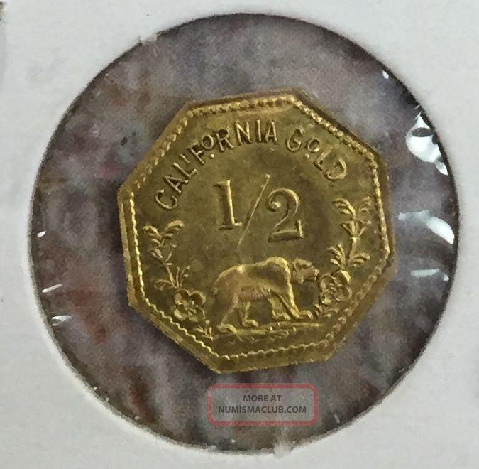 1852 California Gold Coin Half Dollar Fractional Token