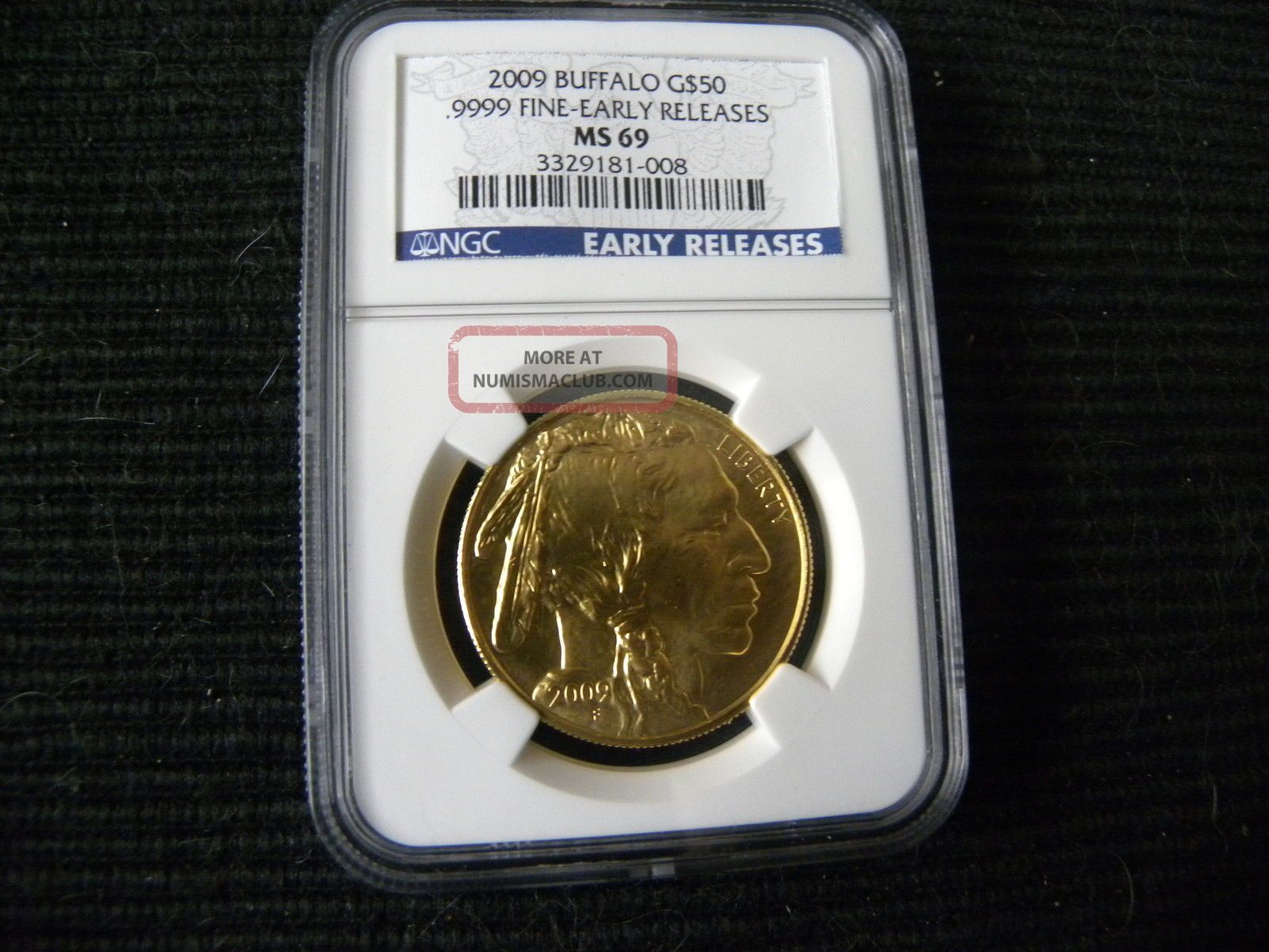 2009 Gold Buffalo G 50 9999 Fine Early Releases Ngc Ms69 1 Oz