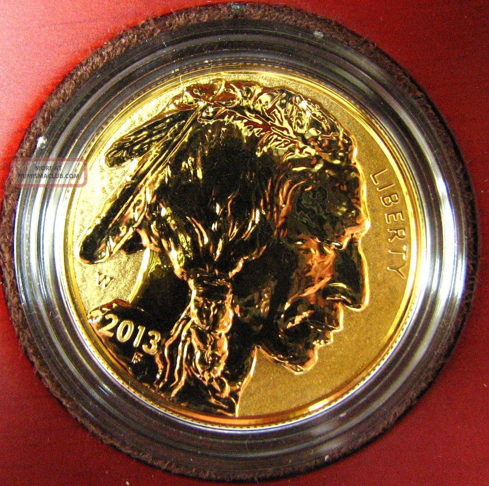2013 Reverse Proof 24k Gold 0 9999 1 Ounce American