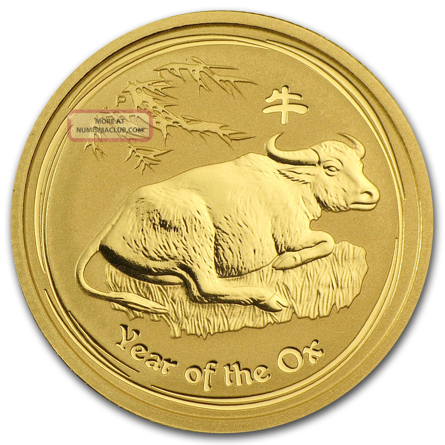 2009 1/4 Oz Gold Australian Perth Lunar Year Of The Ox Coin - Sku 43917 Gold photo
