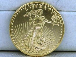 2010 1/10 Ounce Gold American Eagle $5 Bullion Coin photo