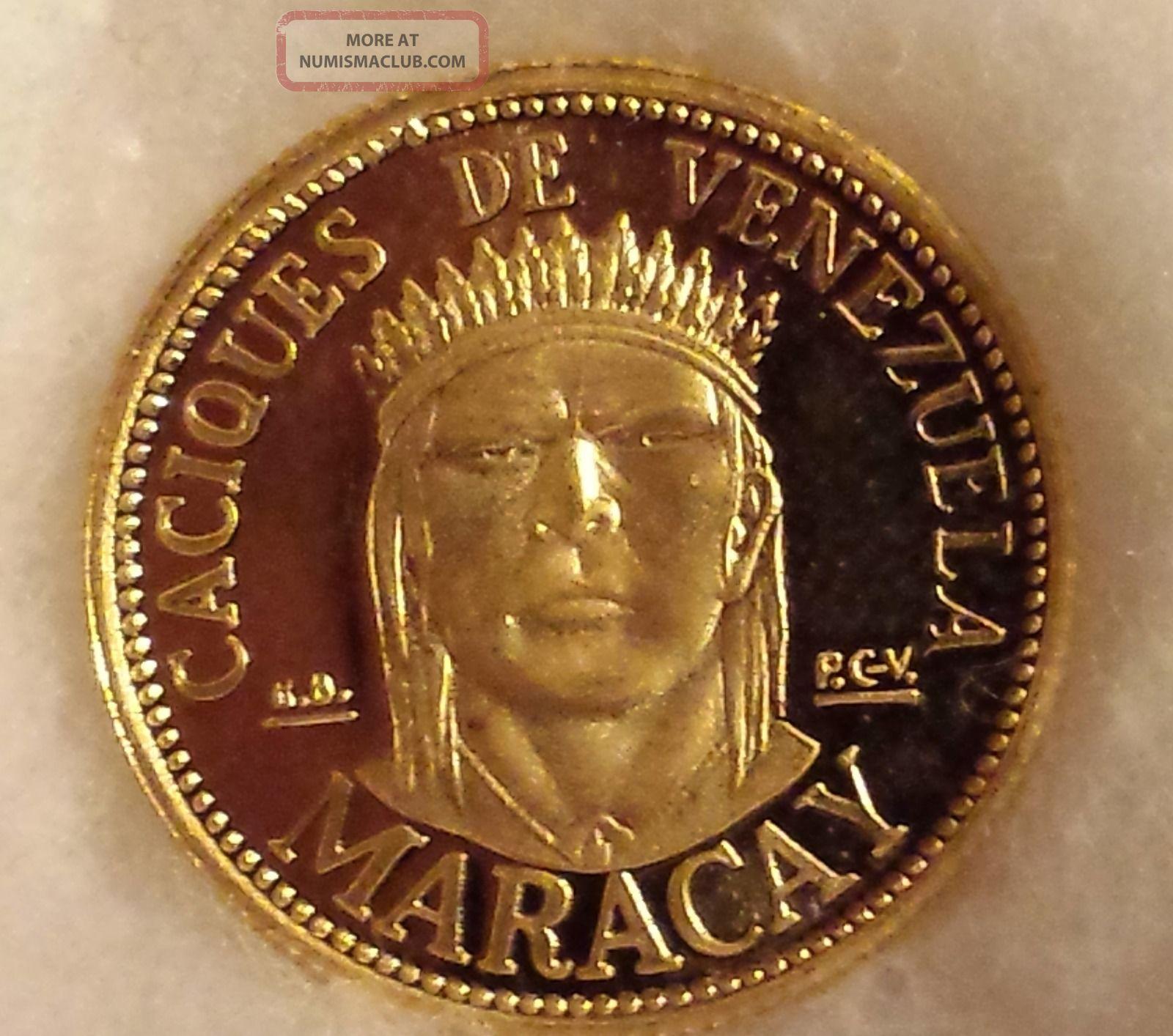 Gold Coin Caciques De Venezuela Maracay Unc 2 5 Grams 900