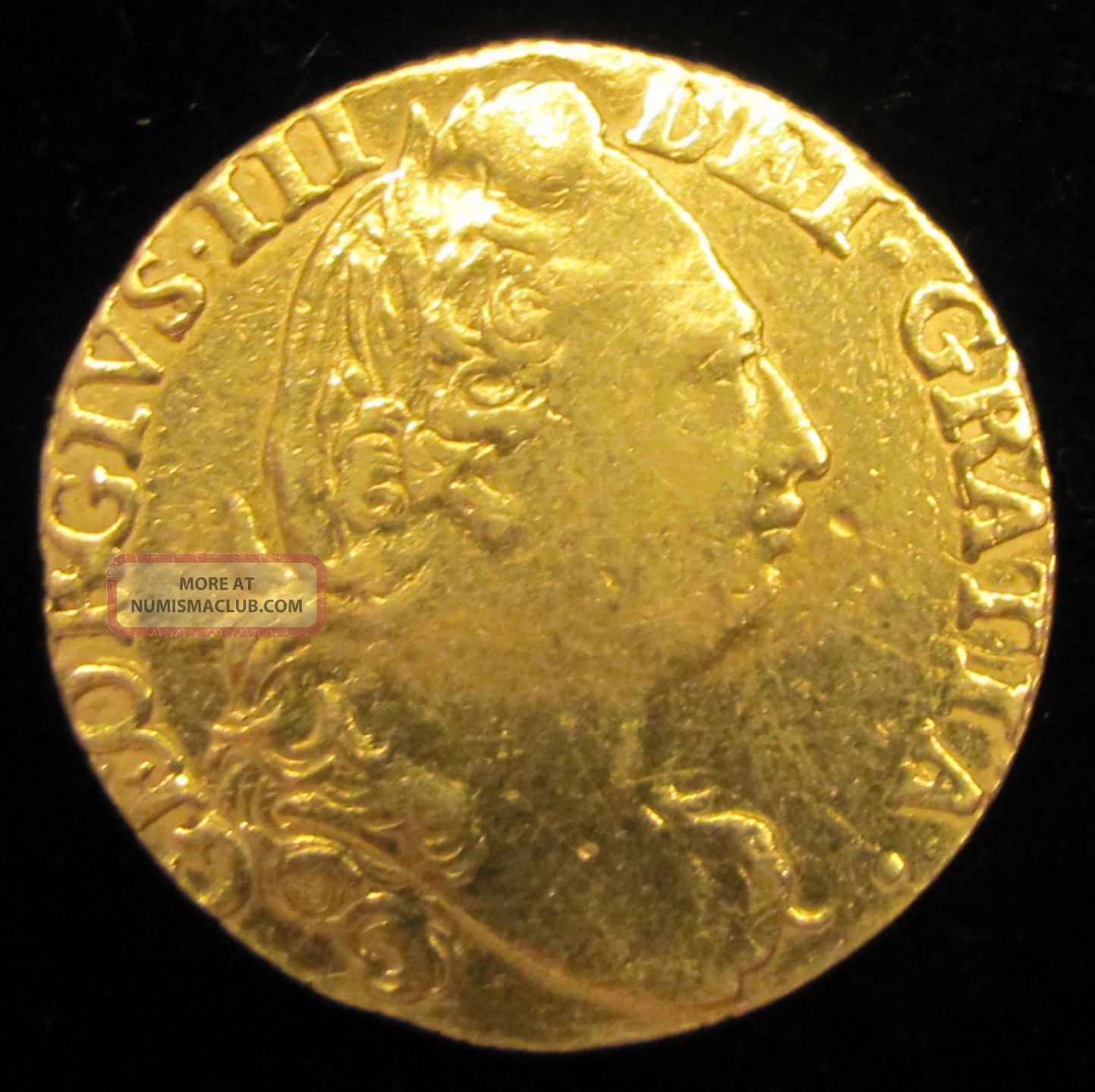 Great Britain 1782 George Iii Gold Guinea Coin Gold photo