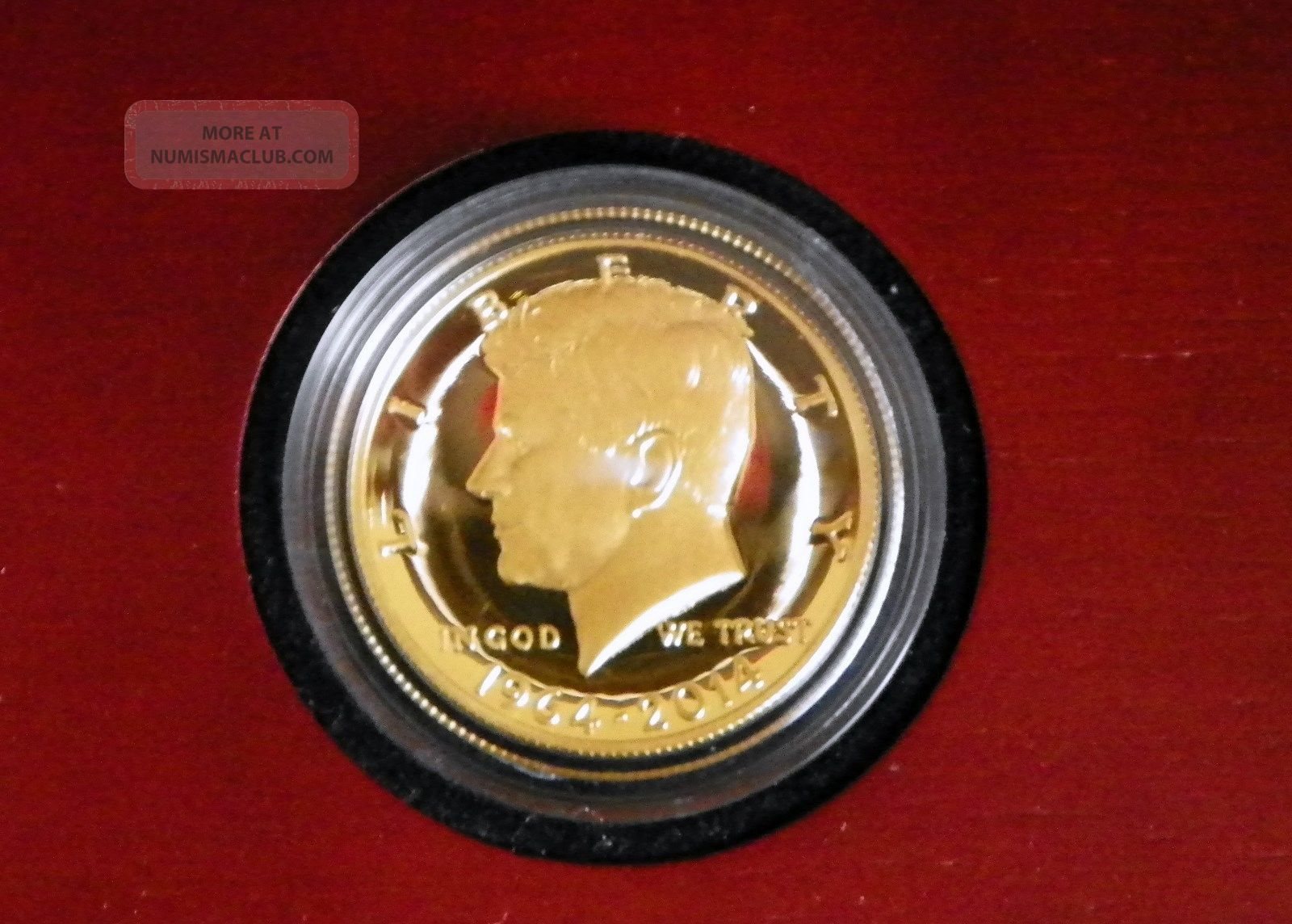 1964 2014 W Gold 50c Kennedy Half 50th Anniversary High Relief Gold Coin 9999