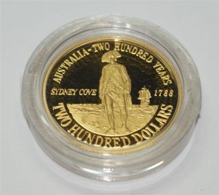 Two Hundred Dollar Gold Proof Coin 1988 Captain Arthur