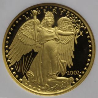 2002 Liberia Africa Gold $100 Winged Liberty Ngc Pr 69 Ucam 0747558b photo
