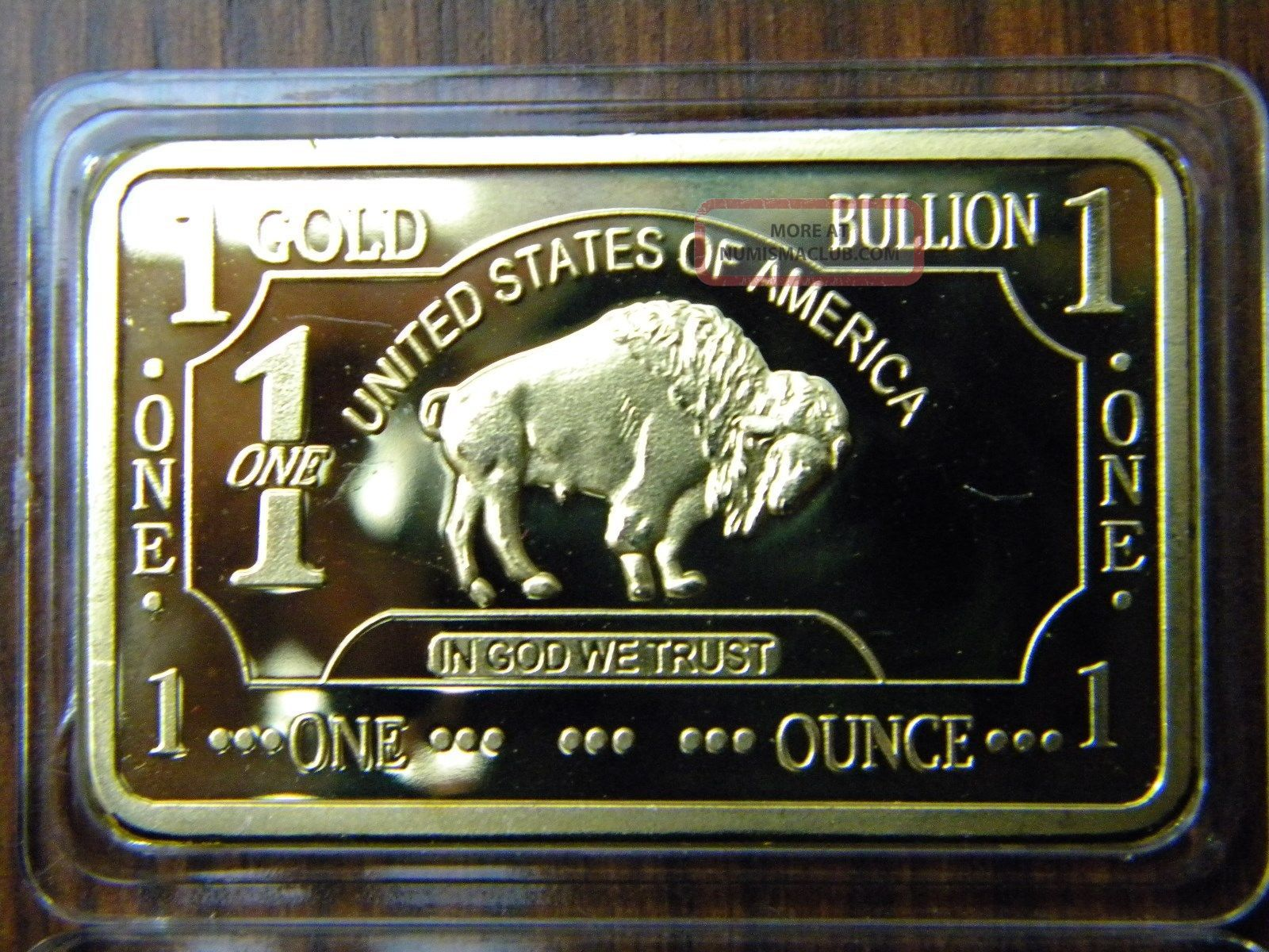 Gold Buffalo Bar 100 Mills 999 24k 1 Oz Fine Bullion Gold