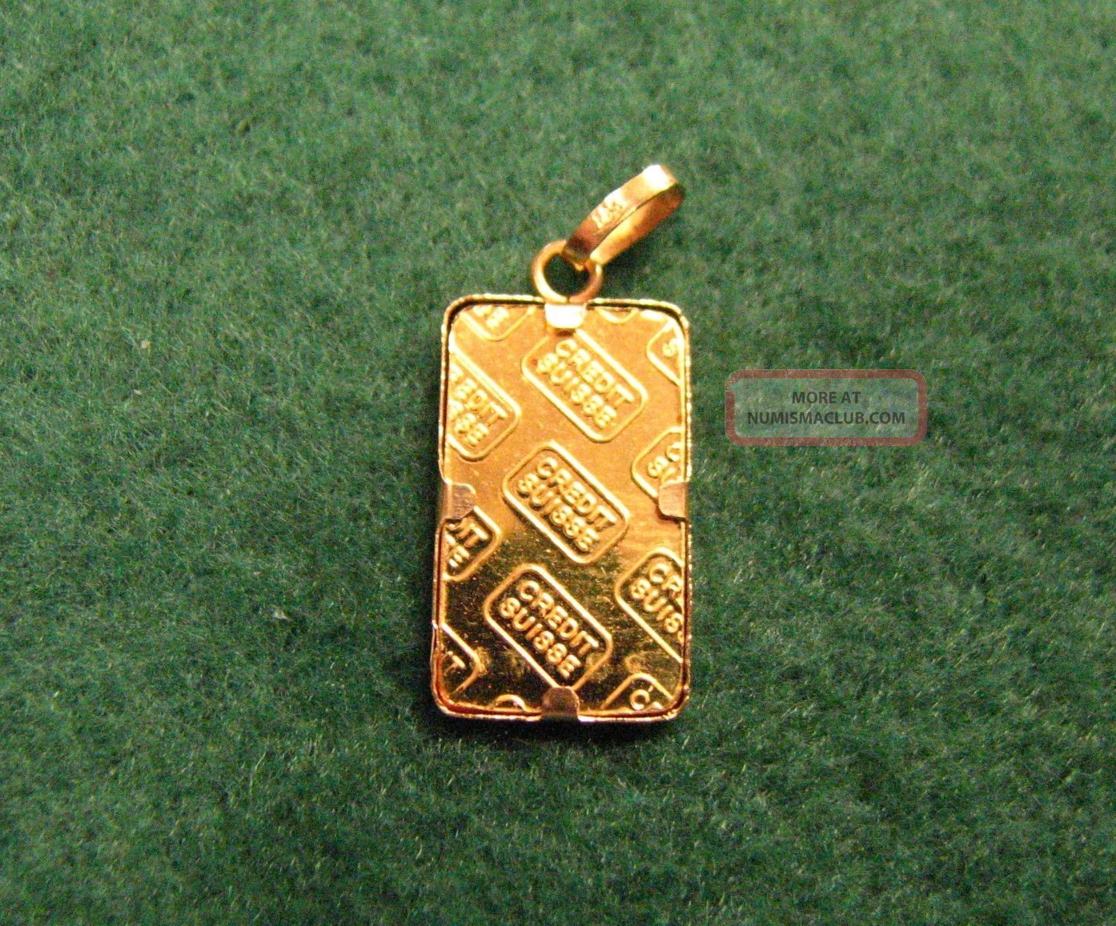 Credit Suisse 1 Gram 999 Fine Gold Bar Pendant W Serial