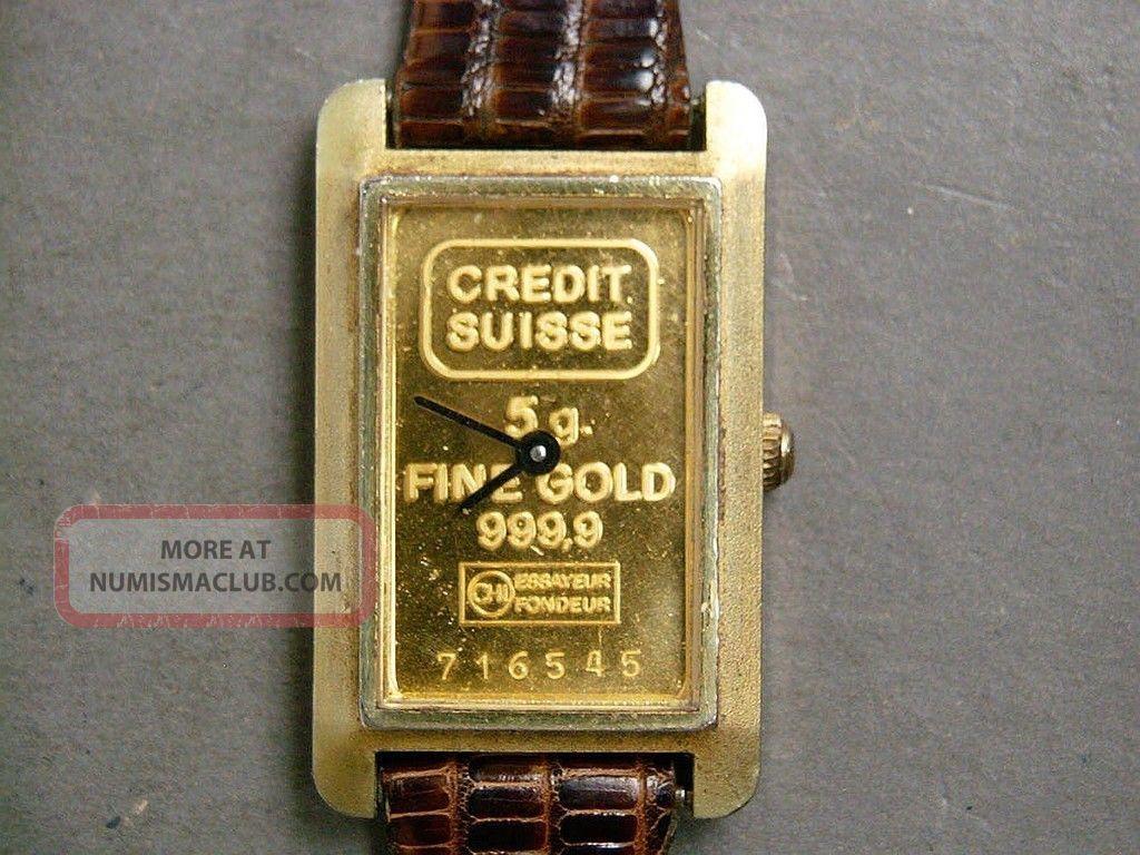 credit suisse 5 gr gold bar wrist