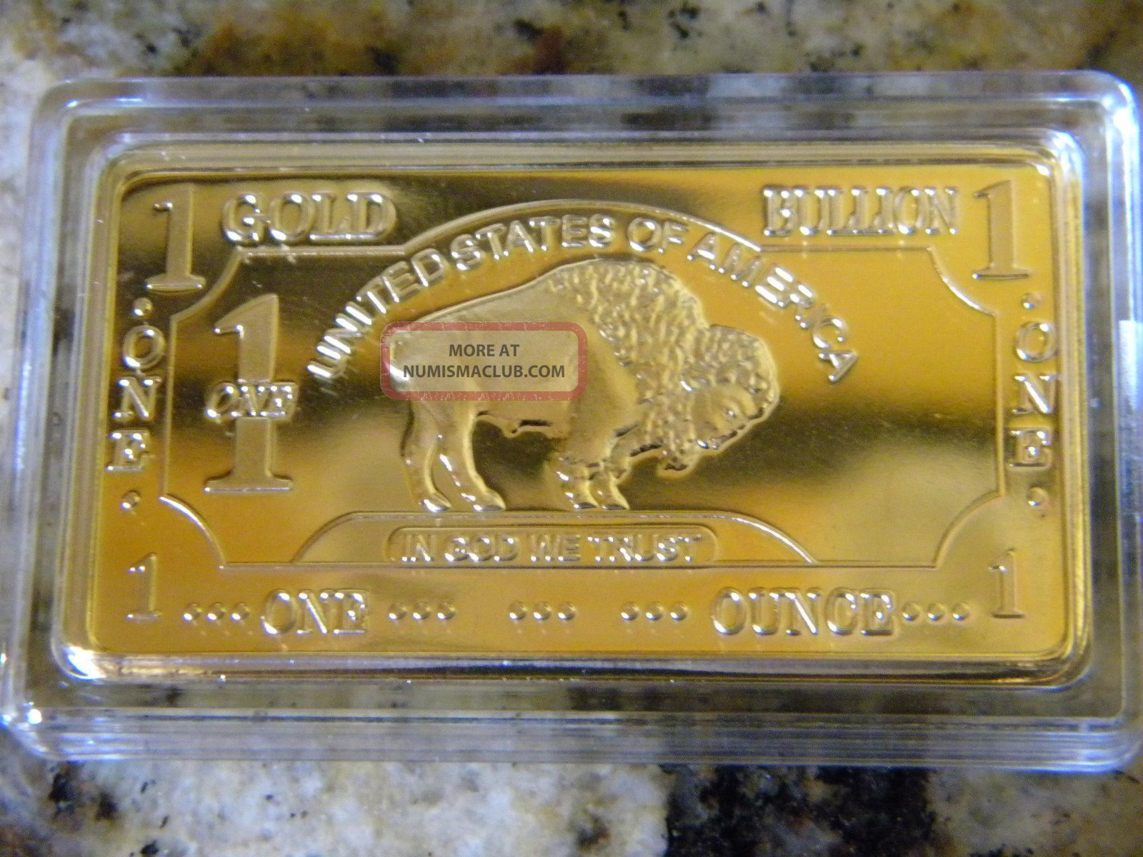 1 Oz Gold Bullion American Buffalo Bar 24 Kt 999 Refined