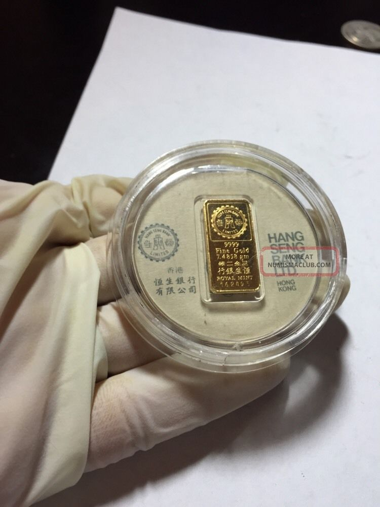 Ltd Hang Seng Bank Hong Kong 9999 Fine Gold 24k Bar God Of