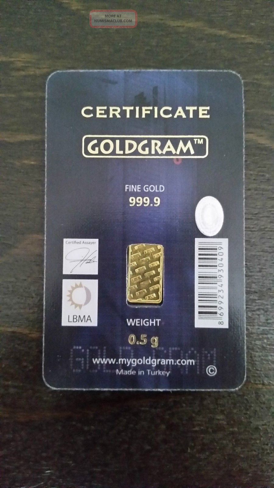 Goldgram Igr 0 5g Fine Gold 999 9 Certified Lbma