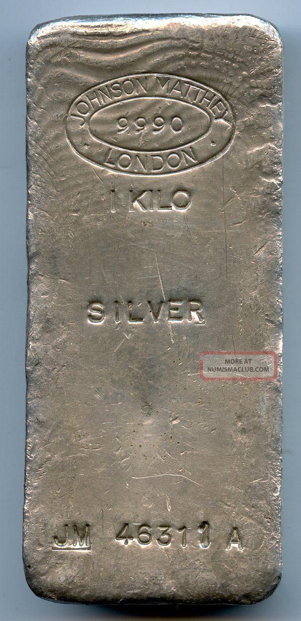 Johnson Matthey 1 Kilo Silver Bar 32 15 Oz 9999 Fine
