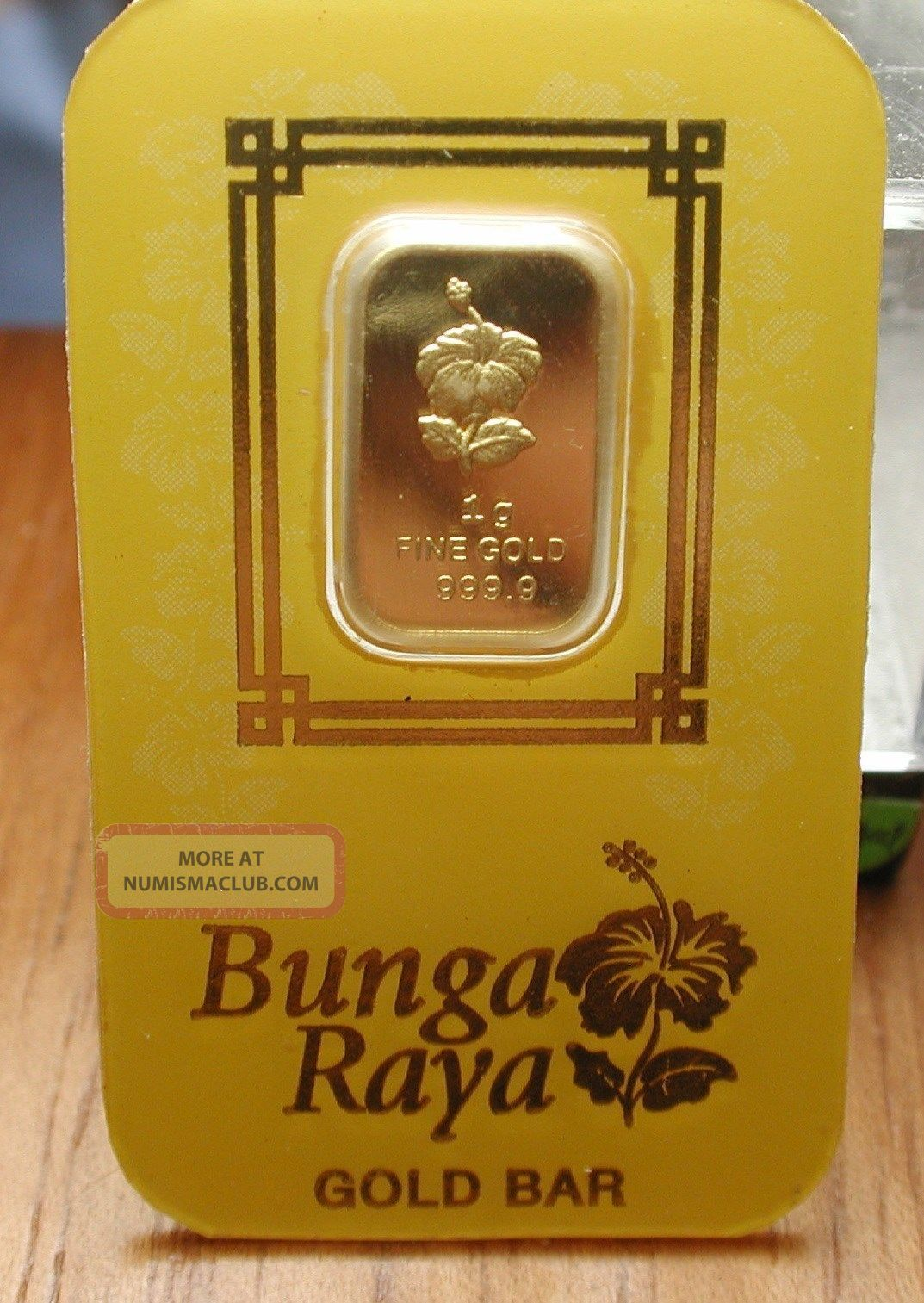 Gold Bar 1 Gram Hibiscus Flower 24 K 999 9 From Malaysia
