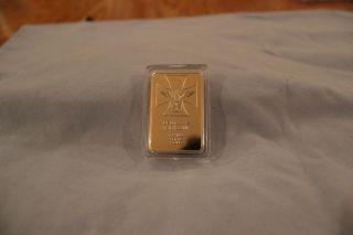 1 Troy Oz Fuhrer Und Reichskanzler Reichs Real Gold Bar photo