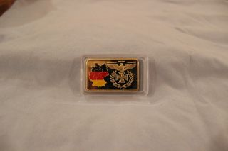 German One Troy Ounce 100 Mils.  999 Fine Gold photo