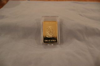 South Africa King Of Africa Pyngoud 100 Mils 999/1000 Fine Gold Clad photo