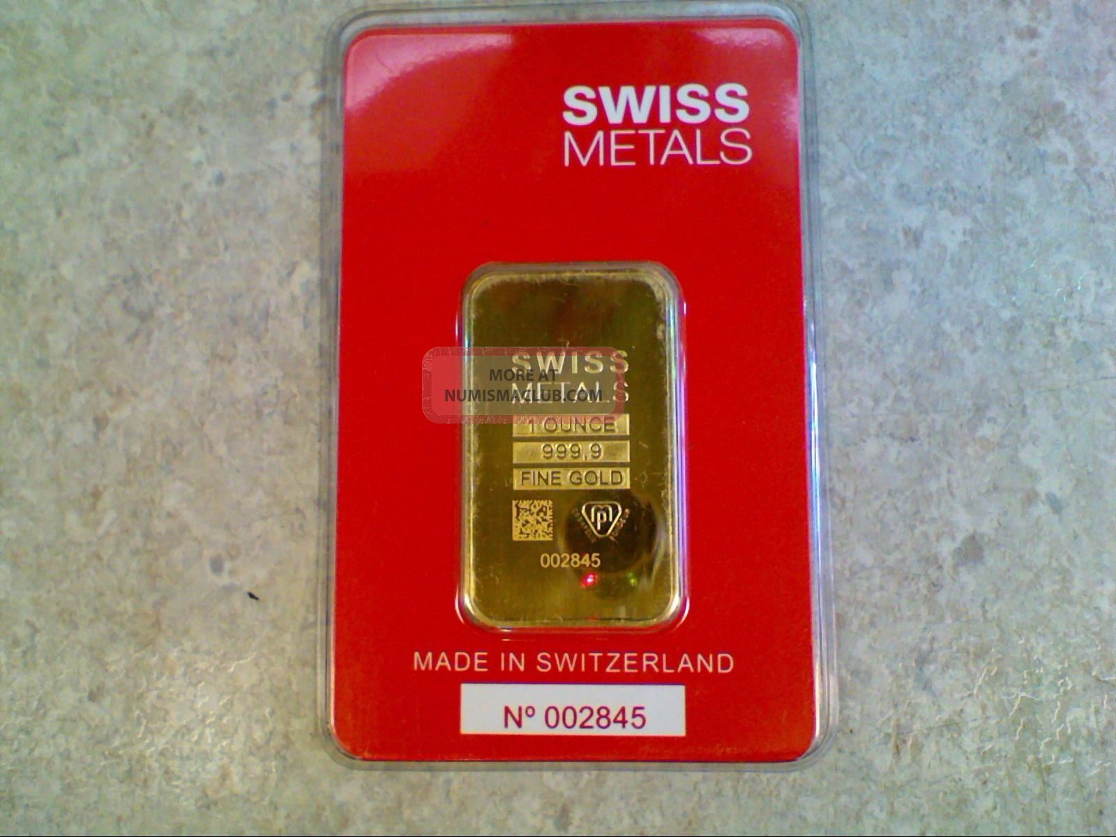 Essayeur fonduer gold bar