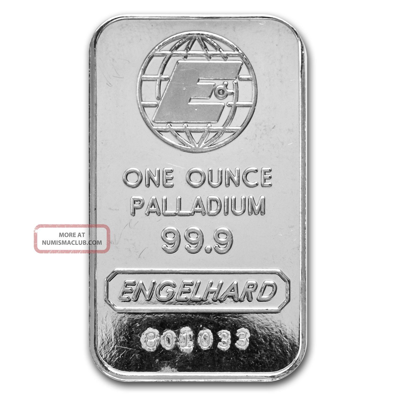 1 Oz Engelhard Palladium Bar - E Logo - No Assay - Sku 72322 Bullion photo