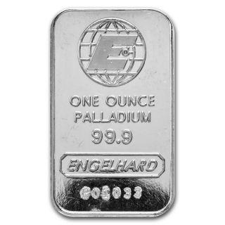 1 Oz Engelhard Palladium Bar - E Logo - No Assay - Sku 72322 photo
