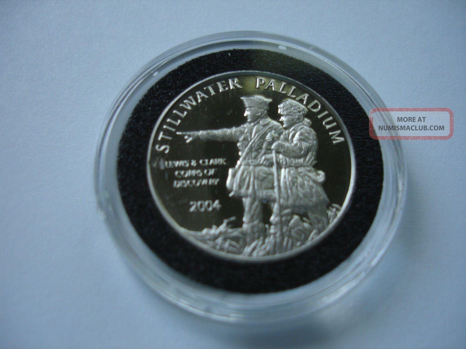 2004 Stillwater Palladium 1/4 Ounce Coin Lewis & Clark Bullion photo