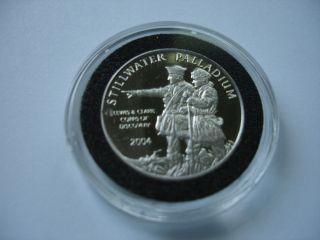 2004 Stillwater Palladium 1/4 Ounce Coin Lewis & Clark photo