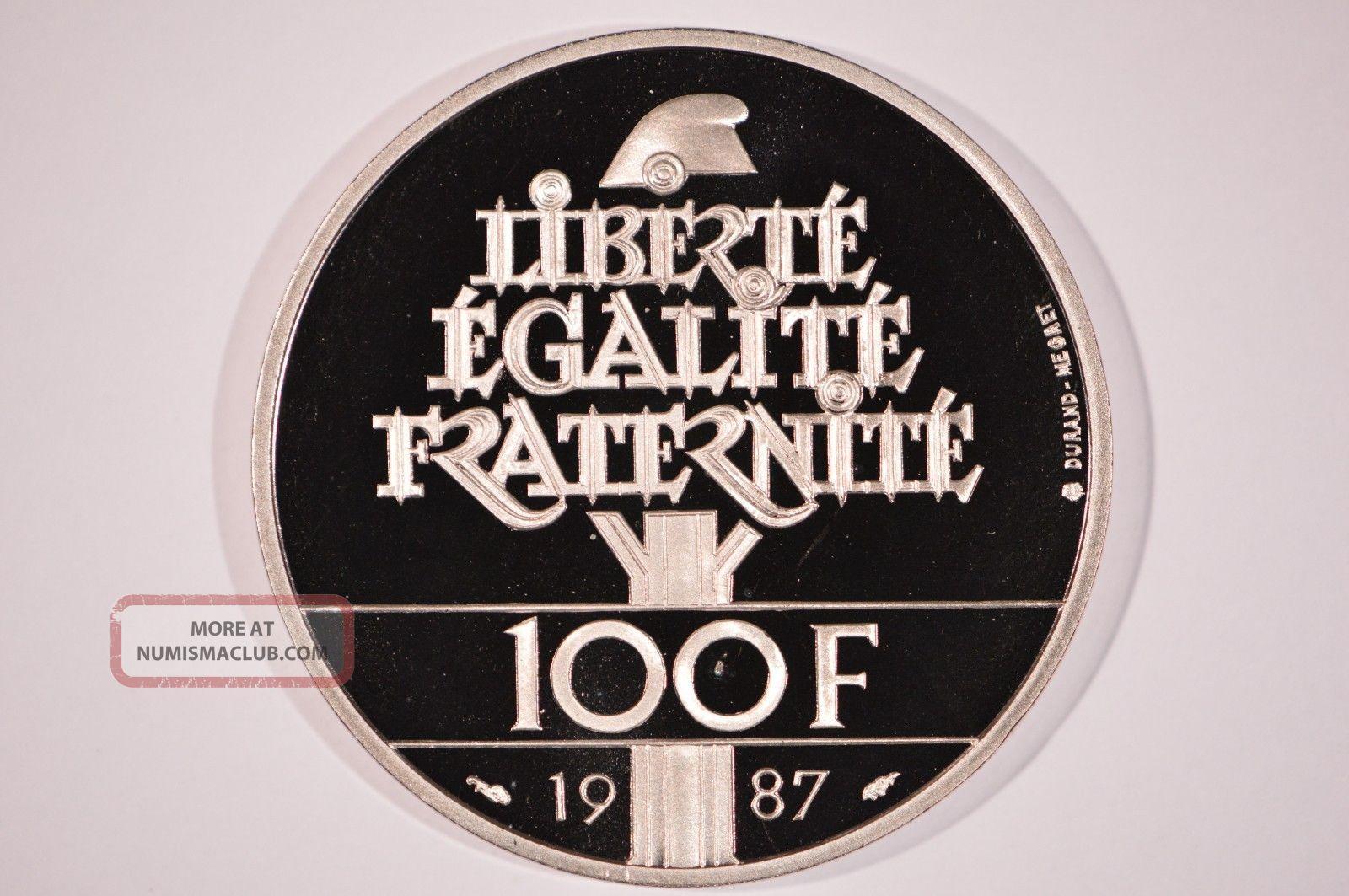 1987 France Palladium 100 Francs General La Fayette Proof Bullion photo