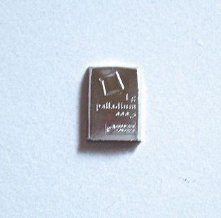 1 Gram Palladium Bar,  Suisse Combi Bar photo
