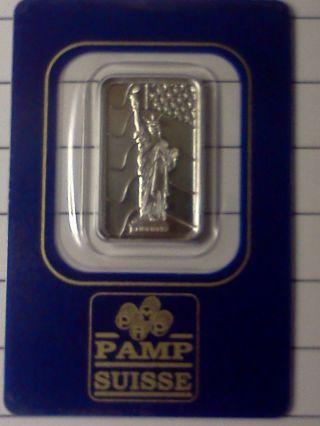 5 Gram Pamp Suisse Bar.  9995 Fine Palladium photo