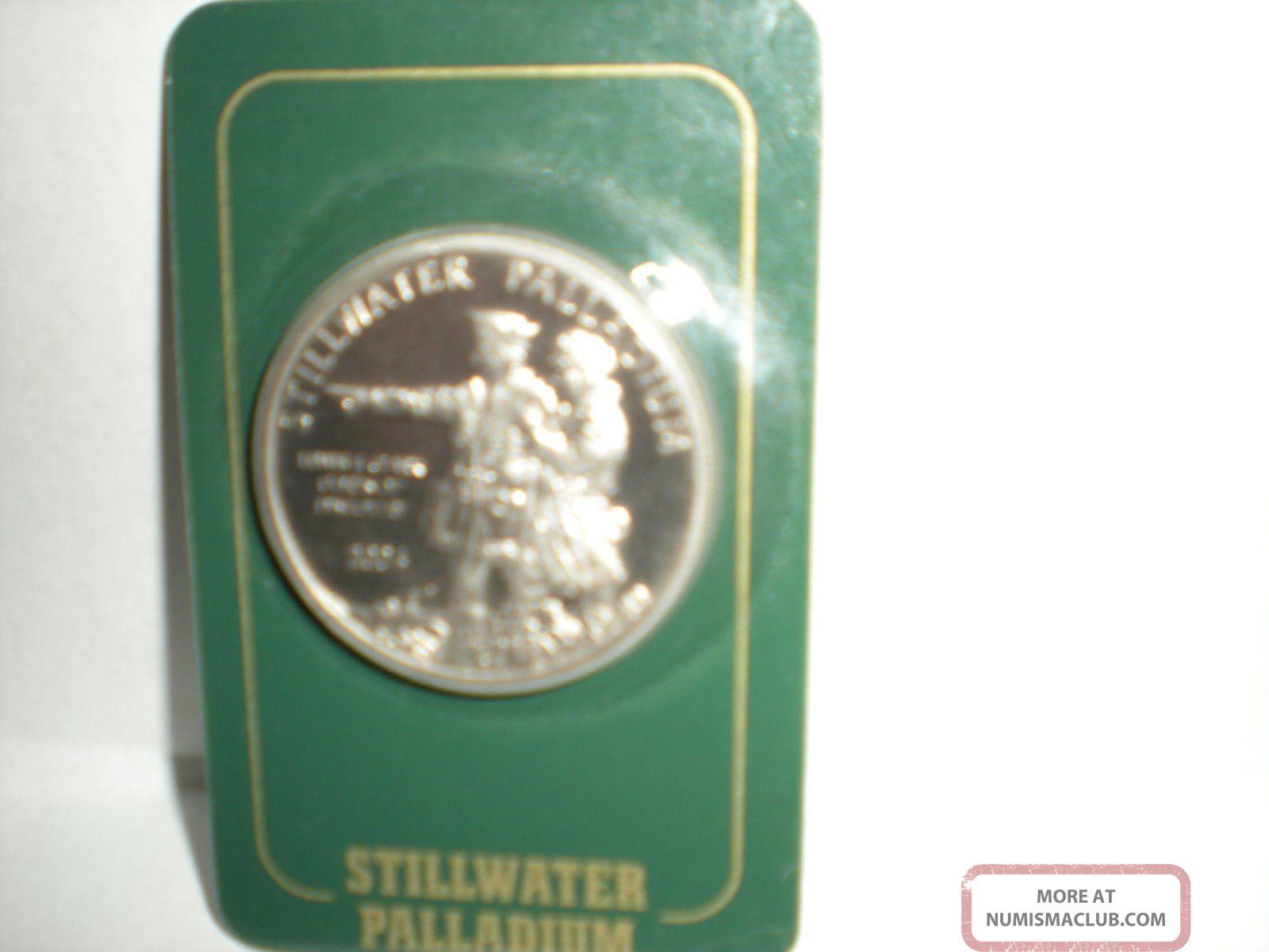 2004 Stillwater Palladium One Ounce Coin Lewis & Clark Bullion photo