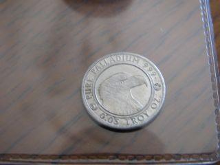 1/20 Oz, .  999 Pure Palladium Round (daniel Carr/clark Gruber & Co,  2013) Rare photo