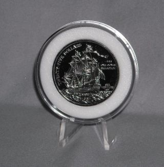 1987 1 Oz.  Palladium Bermuda Sea Venture Coin photo