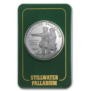1 Oz Palladium Johnson Matthey Lewis & Clark Round - Random Year - Sku 3910 photo