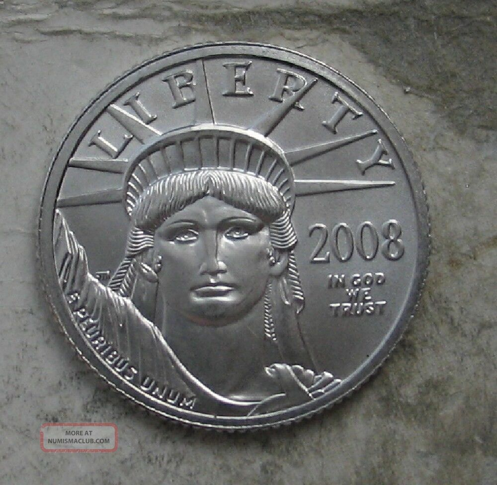 2008 Platinum 1/4 Oz American Eagle.  Gem Bu Platinum photo