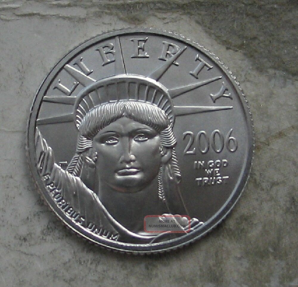 2006 Platinum 1/4 Oz American Eagle.  Gem Bu Platinum photo