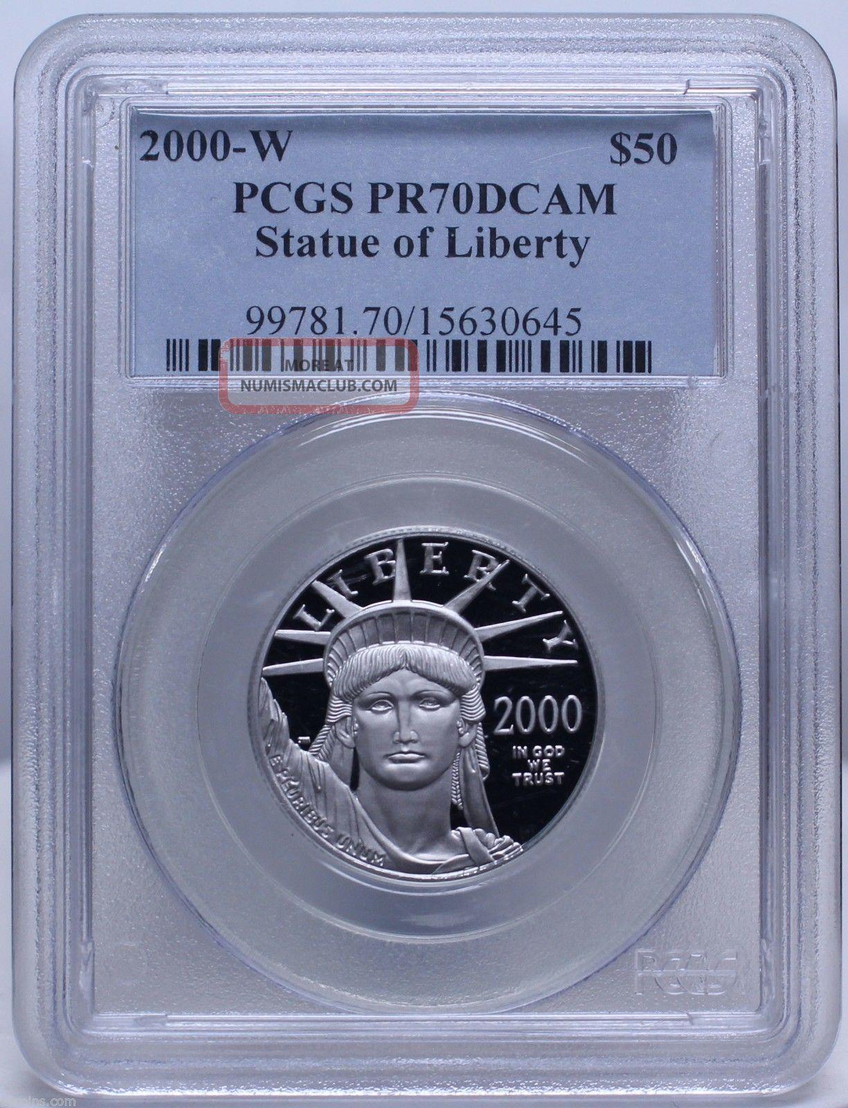 2000 W $50 Platinum Eagle West Point Pcgs Pr 70 Dcam Low Mintage Nr 01201786b Platinum photo