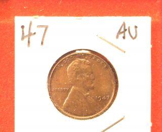 1947 Lincoln Cent,  Au photo