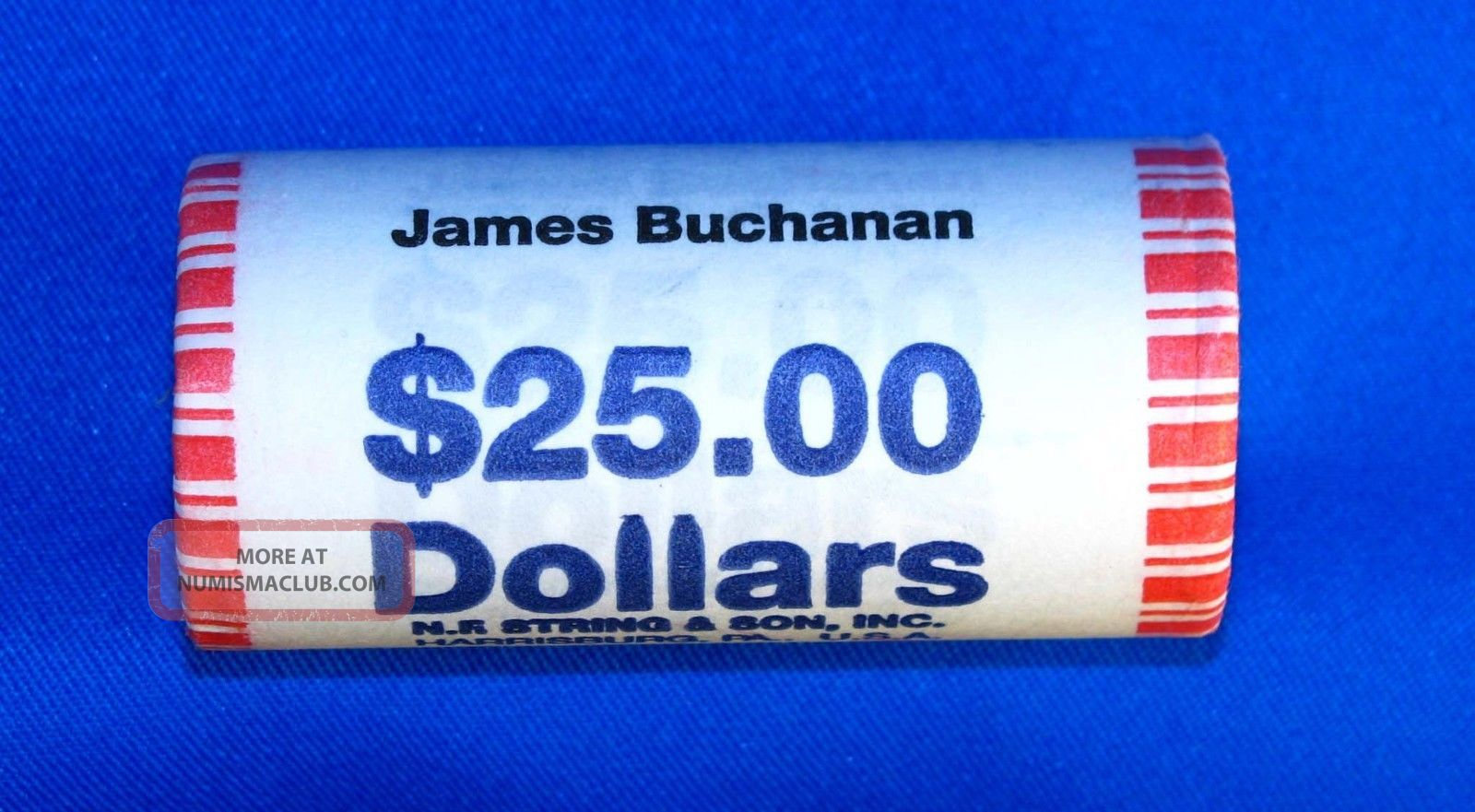 2010 James Buchanan Presidential Dollars - 25 Coin Wrapped Ro Dollars photo