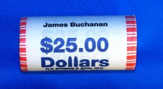 2010 James Buchanan Presidential Dollars - 25 Coin Wrapped Ro photo