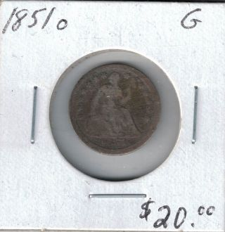 1851 O Seated Liberty Half Dime A