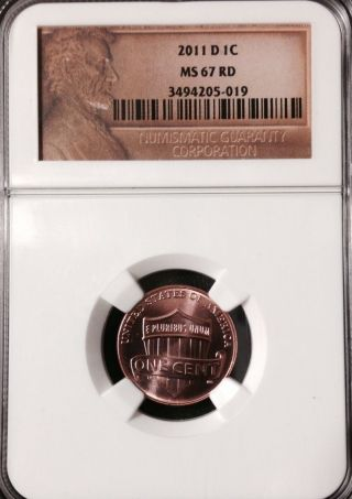 2011 D One Cent Lincoln Ngc 67 Rd photo