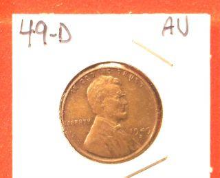 1949 - D Lincoln Cent,  Au photo