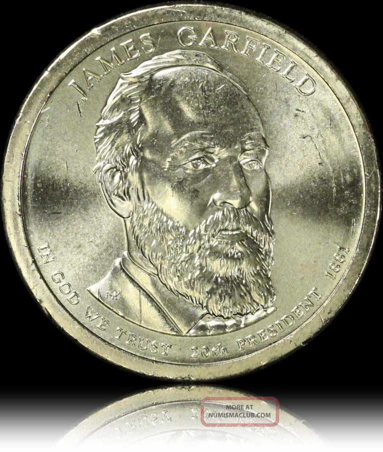Garfield Gem Luster Presidential Usa Dollar Coin L28 Dollars photo