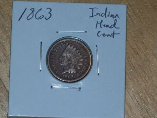1863 Indian Head Cent (coin) photo