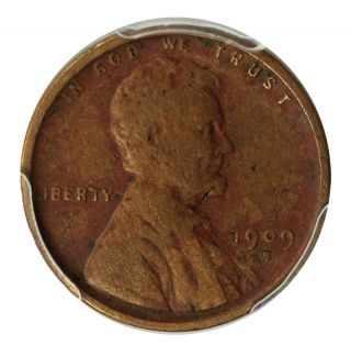 1909 - S 1c Lincoln Cent Wheat Reverse Pcgs - Vf Details Eb - 606 photo