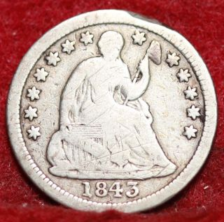 1843 Seated Liberty Half Dime photo