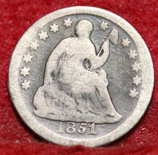 1851 - O Seated Liberty Half Dime photo