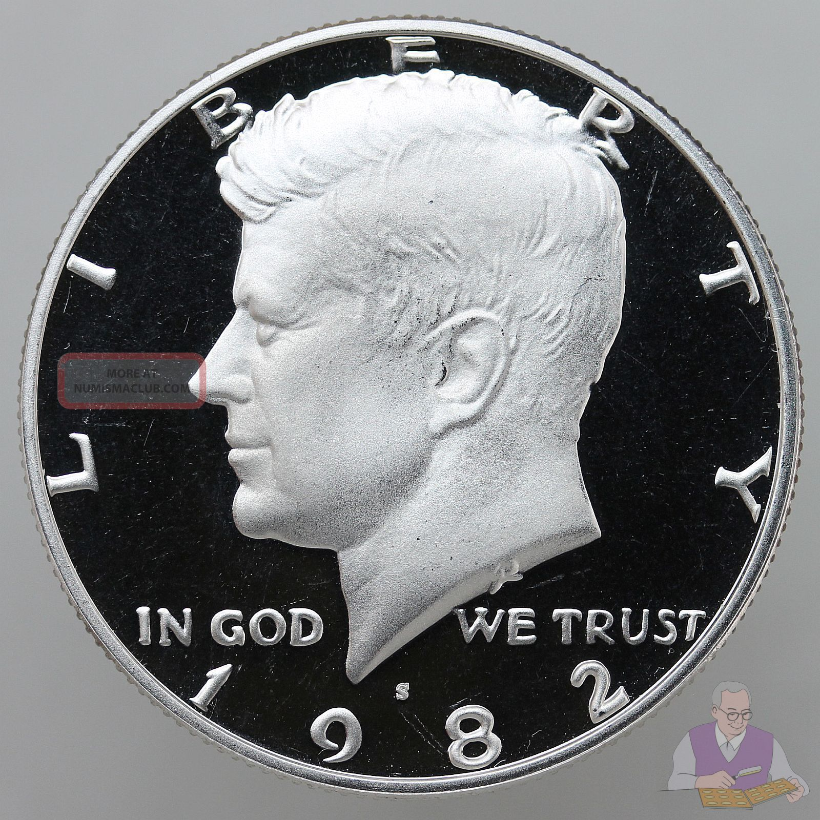Gem Proof Deep Cameo U.S 1983-S Kennedy Half Dollar Coin